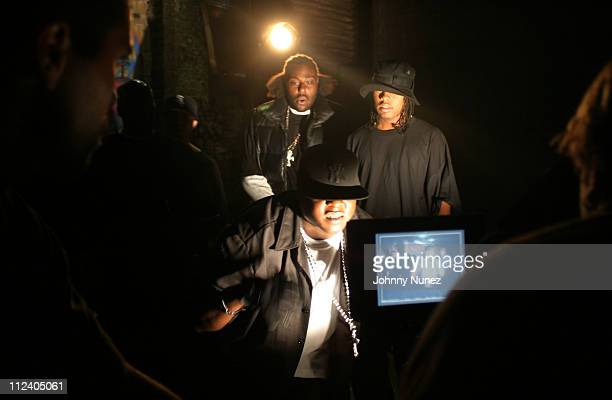 Jadakiss and guests during Bone Crusher Remix Video Shoot Featuring Busta Rhymes Camron Juelz Santana and Jadakiss at Broadway Warehouse in New York...