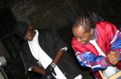 Jadakiss and Jermaine Dupri during Bone Crusher Remix Video Shoot Featuring Busta Rhymes Camron Juelz Santana and Jadakiss at Broadway Warehouse in...