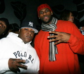 Jadakiss and LeBron James attends LeBron James' 23rd Birthday Party at Runway December 18 2007 in New York City