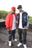 Jadakiss and Swizz Beats shoot Jadakiss' 'Who's Real' music video on the streets of Mahattan on May 11 2009 in New York City