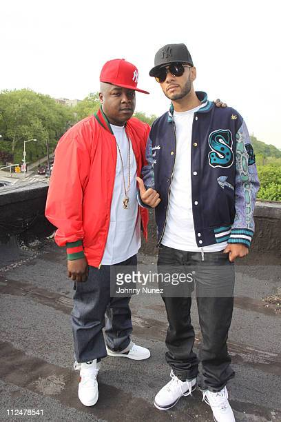 Jadakiss and Swizz Beats shoot Jadakiss' 'Who's Real' music video on the streets of Mahattan on May 11 2009 in New York City
