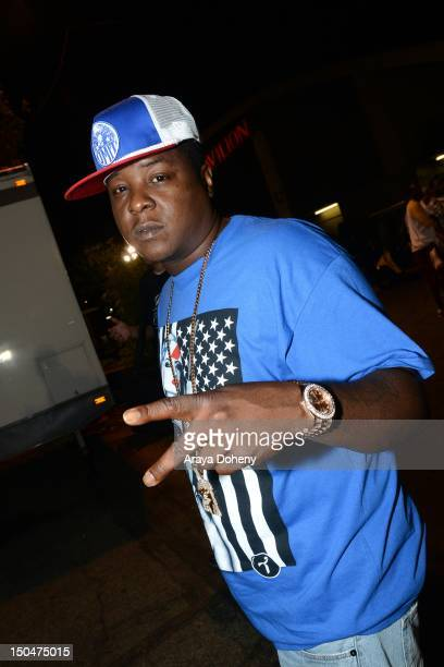 Jadakiss backstage at Rock The Bells Music Festival at NOS Events Center on August 18 2012 in San Bernardino California
