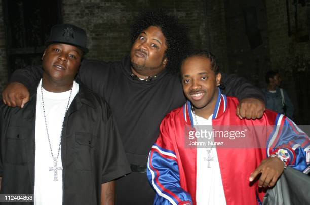 Jadakiss Bone Crusher and Jermaine Dupri during Bone Crusher Remix Video Shoot Featuring Busta Rhymes Camron Juelz Santana and Jadakiss at Broadway...