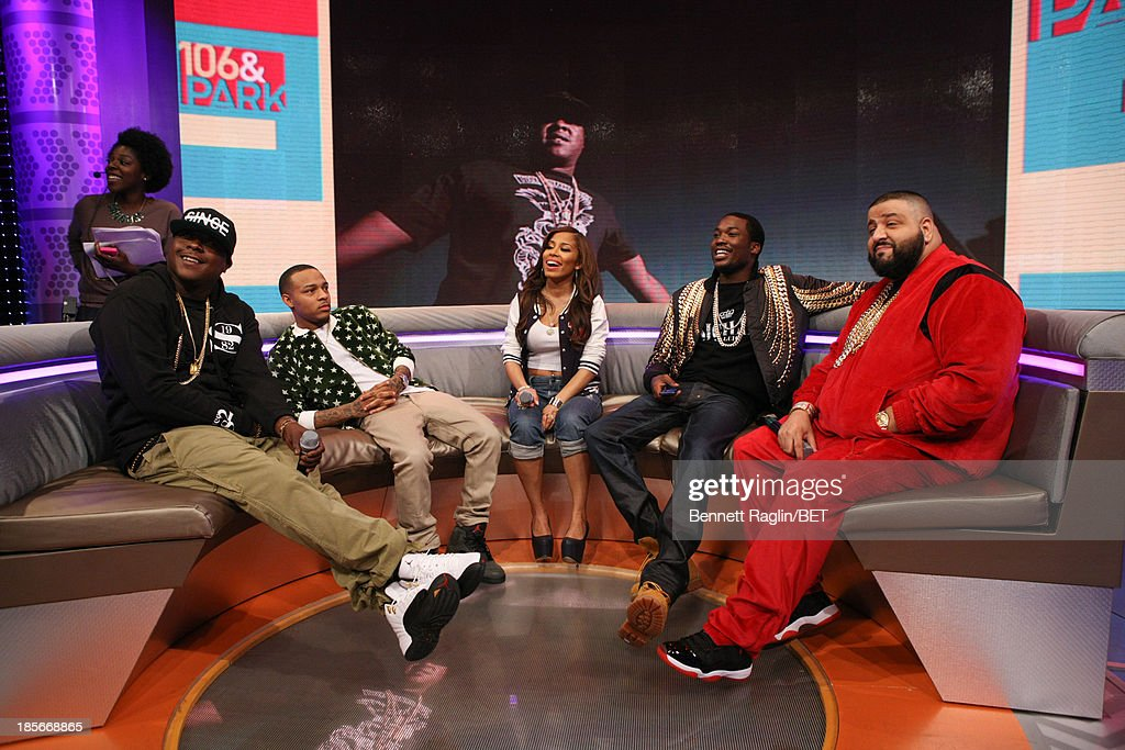 Jadakiss, Bow Wow, Keshia Chante,Meek Mill, and DJ Khaled visit 106 & Park at 106 & Park studio on October 22, 2013 in New York City.