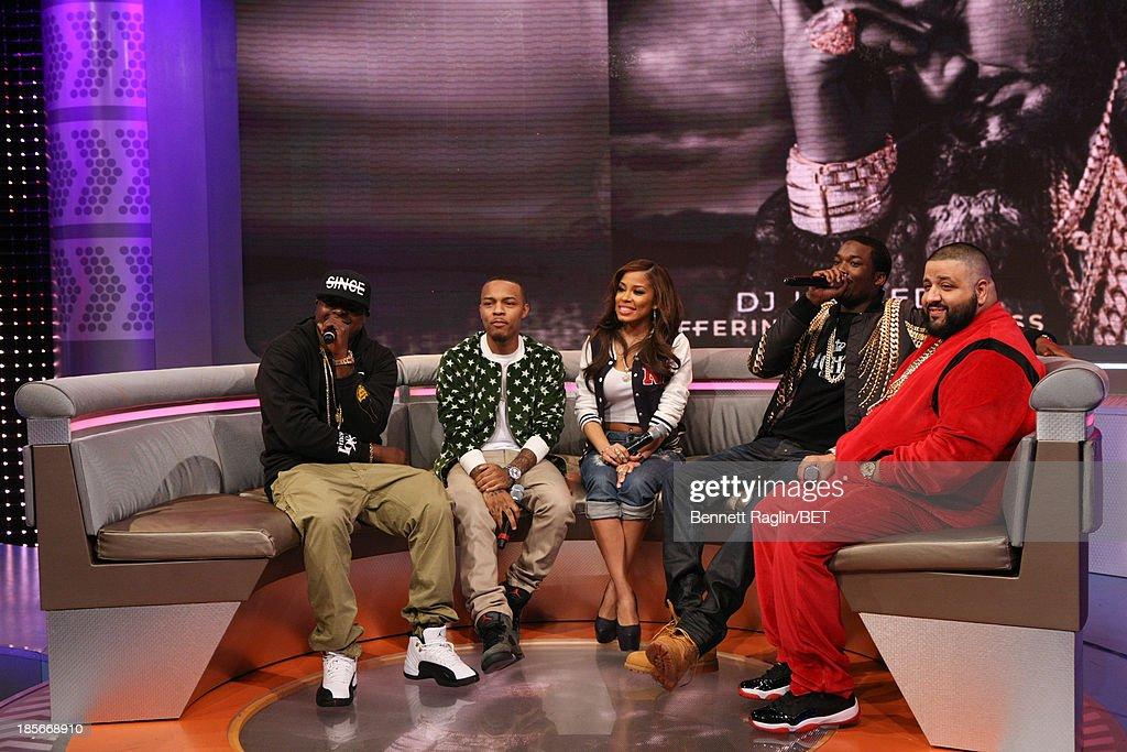 Jadakiss, Bow Wow, Keshia Chante,Meek Mill, and DJ Khaled visit 106 & Park at 106 & Park studio on October 22, 2013 in New York City.