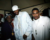 Jadakiss Carmelo Anthony and Nelly during Carmelo Anthony's NBA AllStar Party Hosted by Nelly at Palladium in Denver Colorado United States