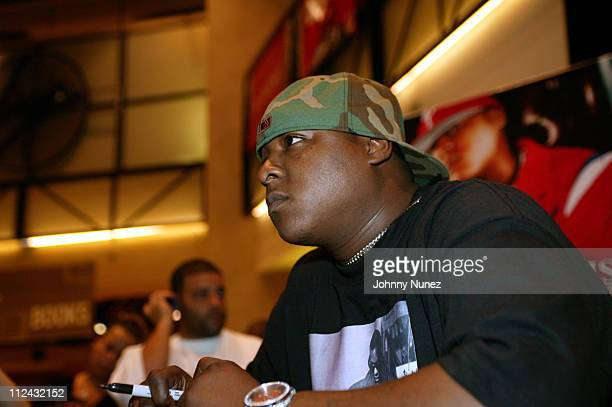 Jadakiss during Jadakiss Signs his New CD 'Kiss Of Death' at Virgin Megastore in New York City New York United States