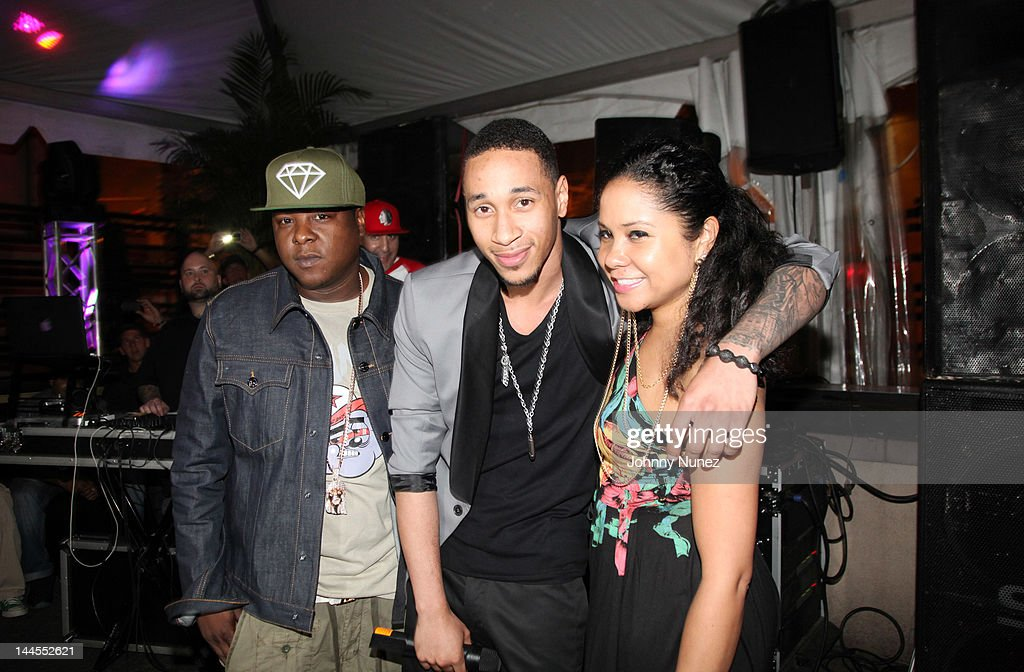 Jadakiss, Emanny, and Angela Yee attend Hudson Cafe on May 15, 2012 in New York City.