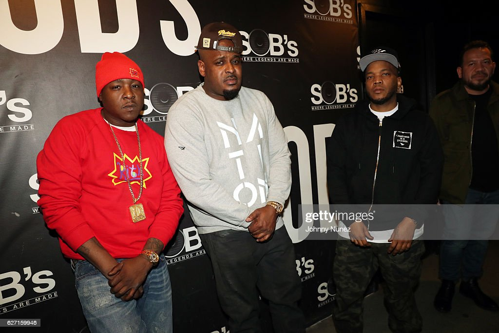 Jadakiss, Sheek Louch, Styles P, and Elliott Wilson attend the Rap Radar Podcast With The LOX at SOB's on December 1, 2016 in New York City.