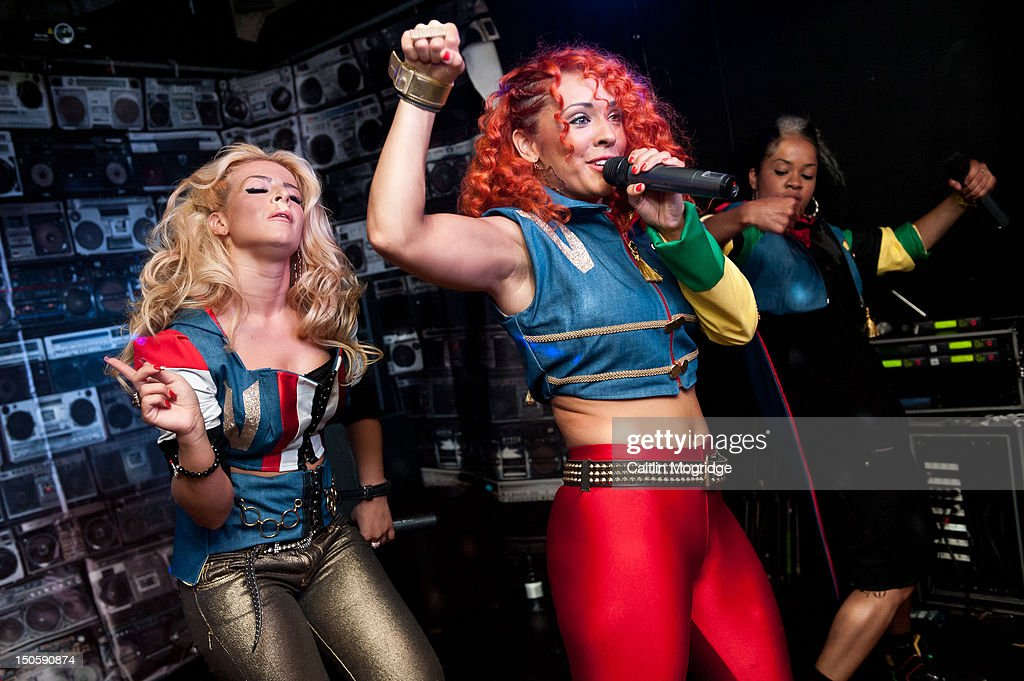 Jade, AJ and Cheekz of Vida perform on stage at Queen Of Hoxton on August 22, 2012 in London, United Kingdom.