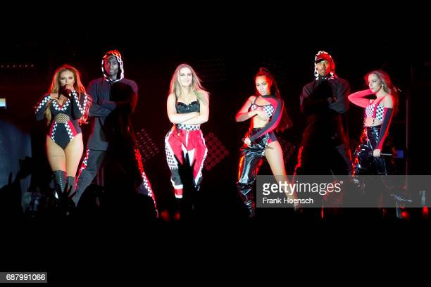 Jade Amelia Thirlwall Perrie Louise Edwards LeighAnne Pinnock and Jessica Louise Nelson of the British band Little Mix perform live on stage during a...