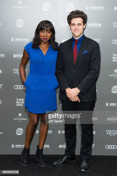 Jade Anouka and Charlie Fink attend The Old Vic Summer Party at The Brewery on June 13 2017 in London United Kingdom