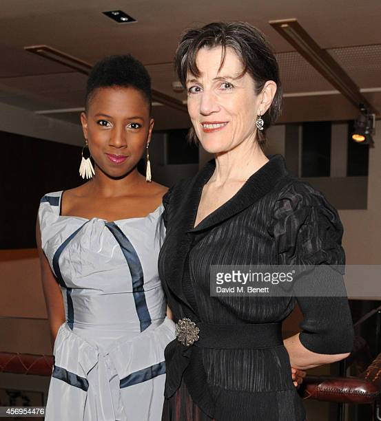 Jade Anouka and Harriet Walter attend an after party following the press night performance of 'Henry IV' playing at The Donmar Warehouse at The...