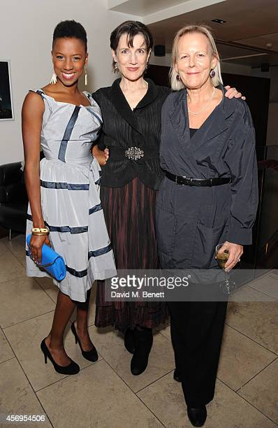 Jade Anouka Harriet Walter and Phylida Lloyd attend an after party following the press night performance of 'Henry IV' playing at The Donmar...