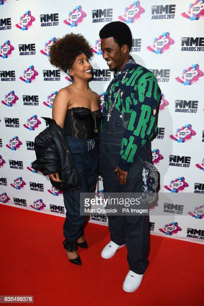 Jade Avia and guest arriving for the VO5 NME Awards 2017 held at the O2 Brixton Academy London