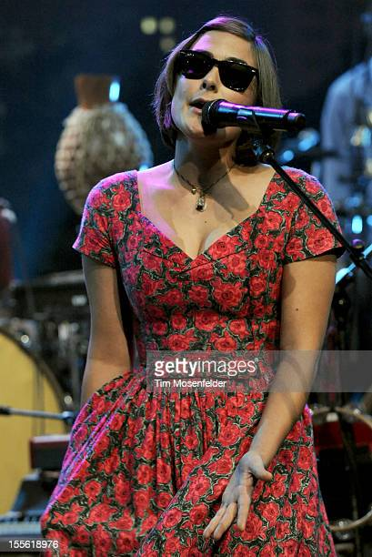 Jade Castrinos of Edward Sharpe and the Magnetic Zeroes performs during the bands' Austin City Limits taping at the Moody Theater on November 5 2012...