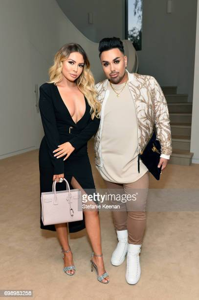 Jade Chapman and Angel Merino celebrate The Launch Of KKW Beauty on June 20 2017 in Los Angeles California