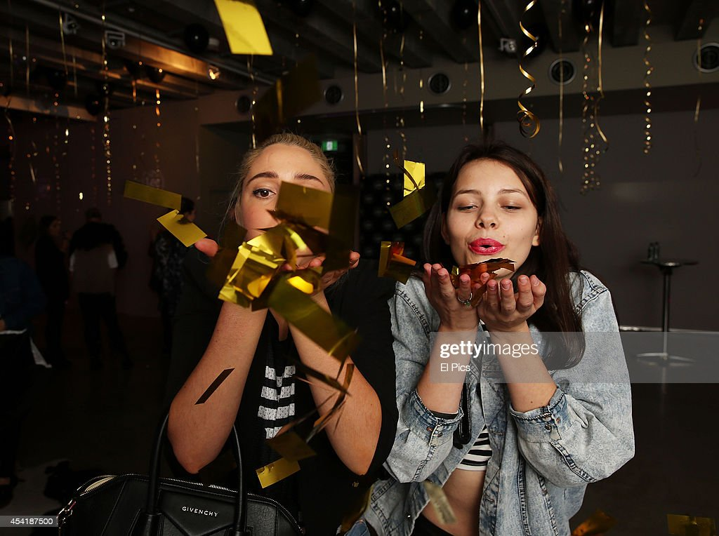 Jade Collins, Ashley Pogmore attends the 'Lee Jeans' launch at Luxe Studios on August 22, 2014 in Sydney, Australia.