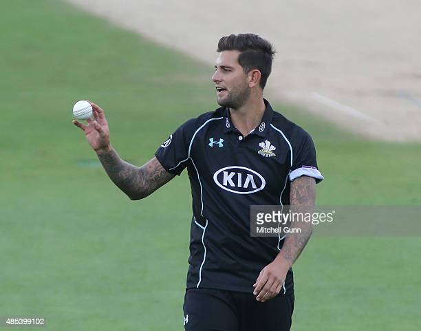 Jade Dernbach of Surrey during the Royal London One Day Cup quarter final match between Surrey and Kent at the Kia Oval Cricket Ground on August 27...