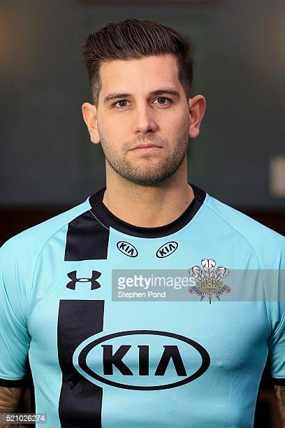 Jade Dernbach of Surrey during the Surrey County Cricket Club media day at The Kia Oval on April 6 2016 in London England