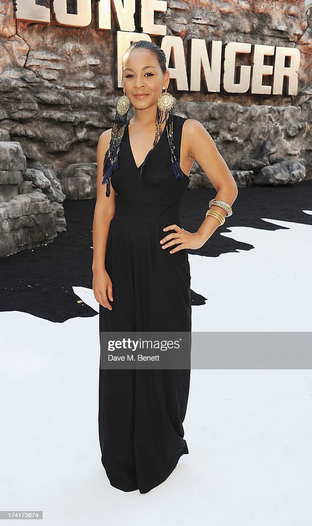 Jade Ellis attends the UK Premiere of 'The Lone Ranger' at Odeon Leicester Square on July 21, 2013 in London, England.