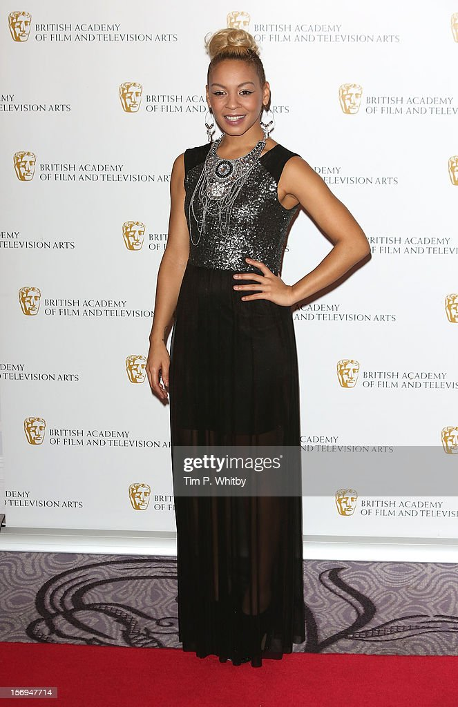 Jade Ellis poses for a photograph in the press room at the British Academy Children's Awards at London Hilton on November 25, 2012 in London, England.