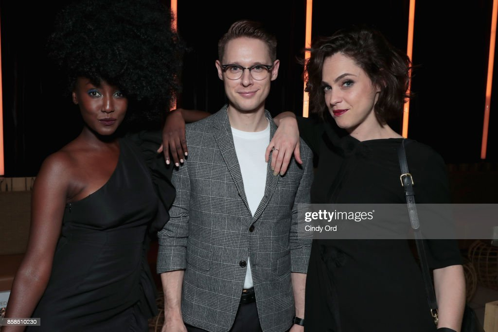 Jade Eshete, Samuel Barnett and Fiona Dourif attend Hulu's New York Comic Con After Party at The Lobster Club on October 6, 2017 in New York City.