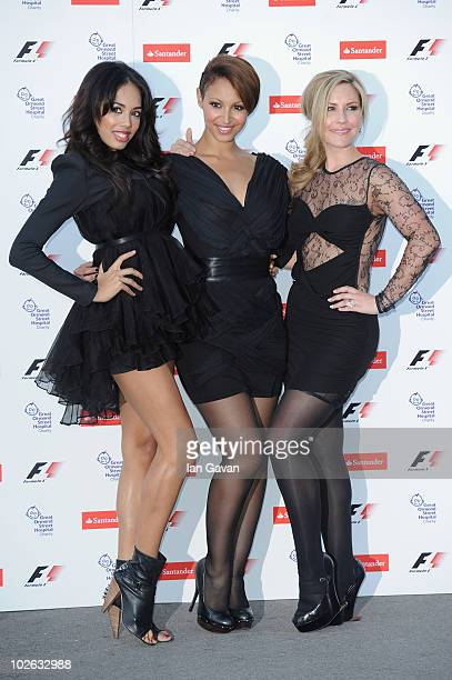 Jade Ewen Amelie Berrabah and Heidi Range of the Sugababes attend the F1 party in aid of Great Ormond Street Hospital Children's Charity at the...