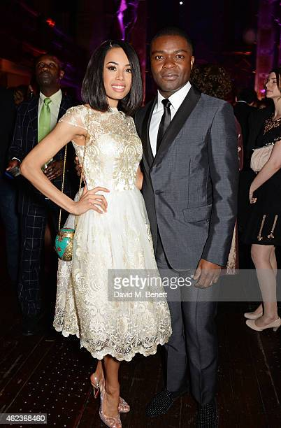 Jade Ewen and David Oyelowo attend the European Premiere of 'Selma' at One Mayfair on January 27 2015 in London England