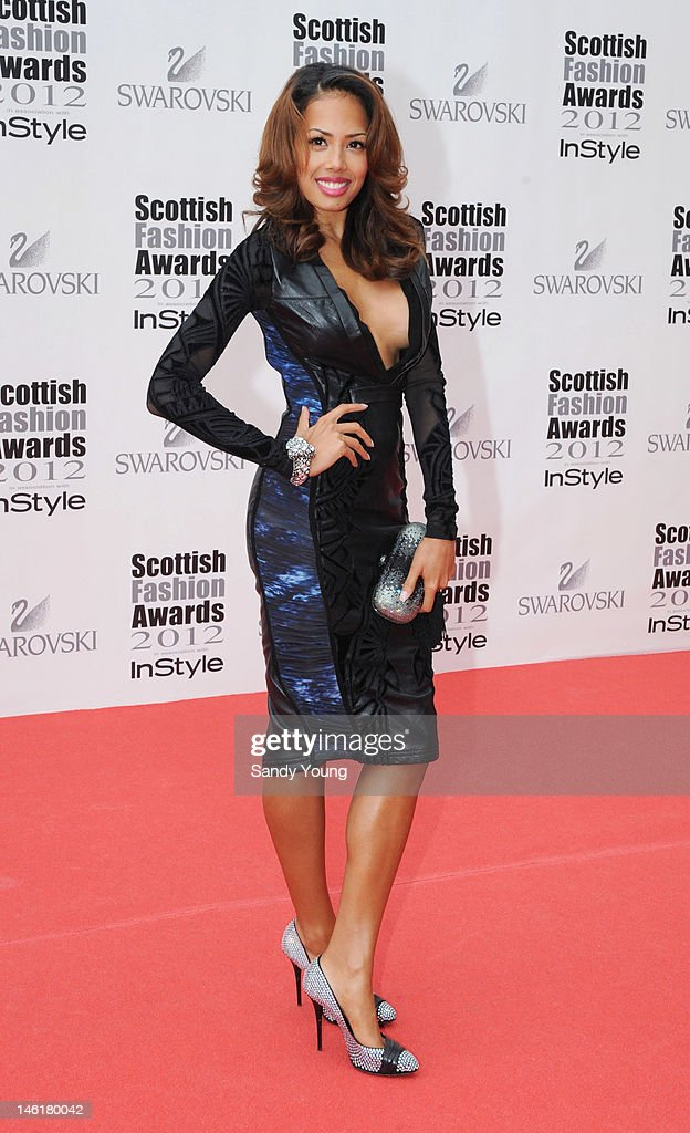 Jade Ewen attends Scotland's most high-profile celebration of fashion and style which recognises scottish designers who have made a significant contribution to the industry at The Clyde Auditorium on June 11, 2012 in Glasgow, Scotland.