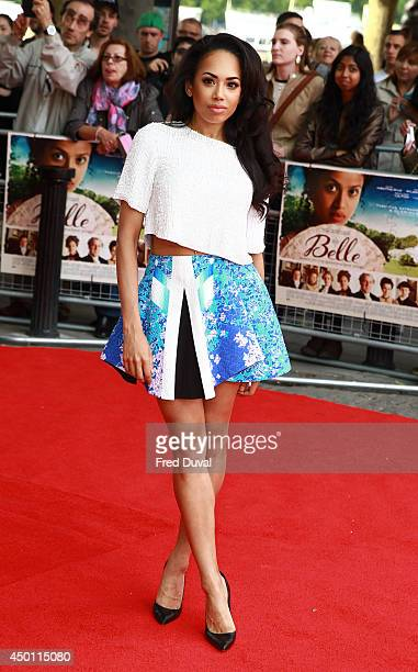 Jade Ewen attends the Belle UK premiere at BFI Southbank on June 5 2014 in London England