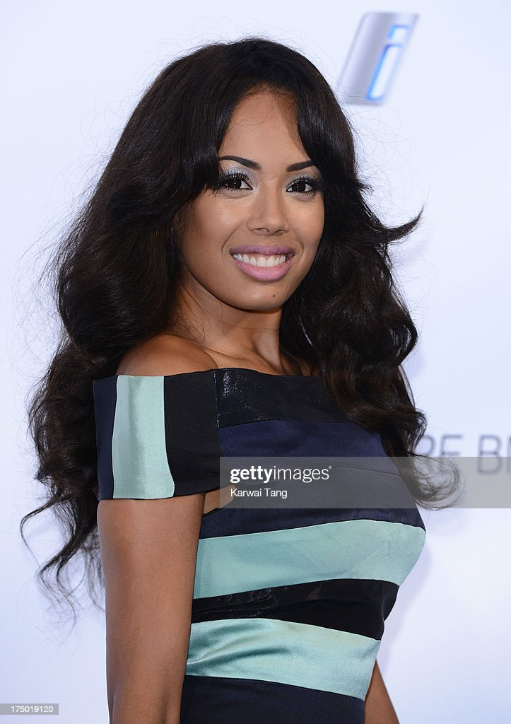 Jade Ewen attends the BMW i3 global reveal party held at Old Billingsgate Market on July 29, 2013 in London, England.