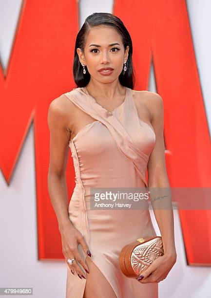 Jade Ewen attends the European Premiere of Marvel's 'AntMan' at the Odeon Leicester Square on July 8 2015 in London England