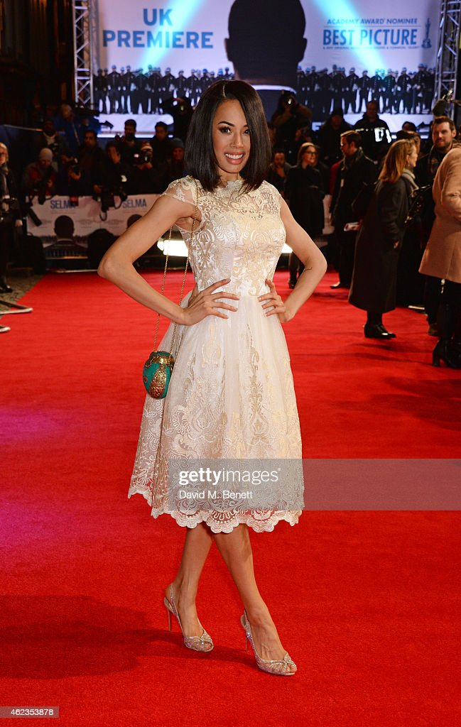 Jade Ewen attends the European Premiere of 'Selma' at The Curzon Mayfair on January 27, 2015 in London, England.