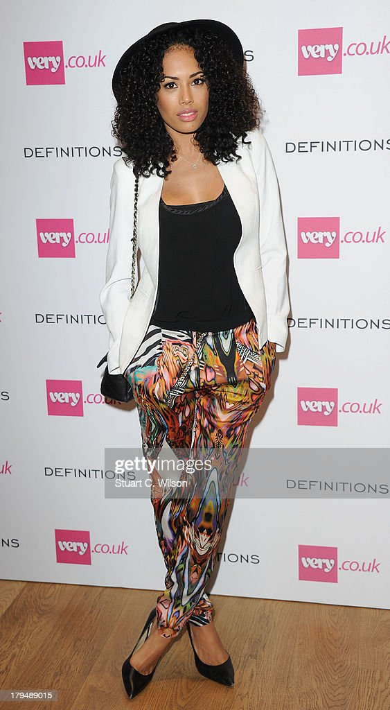 Jade Ewen attends the launch party of very.co.uk's Definiteations range at Somerset House on September 4, 2013 in London, England.