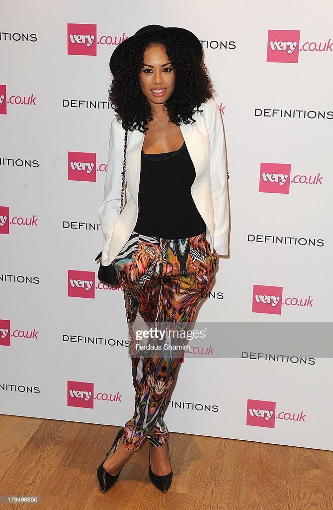 Jade Ewen attends the launch party of very.co.uk's Definitions range at Somerset House on September 4, 2013 in London, England.