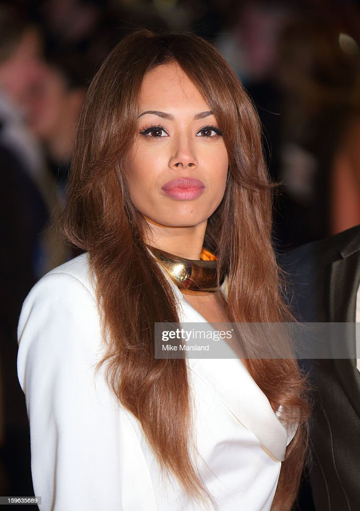 Jade Ewen attends the UK Premiere of 'Flight' at The Empire Cinema on January 17, 2013 in London, England.