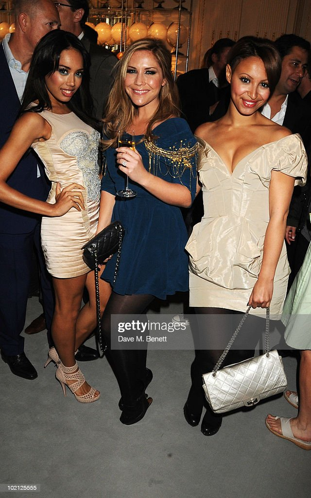 Jade Ewen, Heidi Range, and Amelle Berrabah of The Sugarbabes attend the Lucian Grainge VIP Party on June 15, 2010 in London, England.