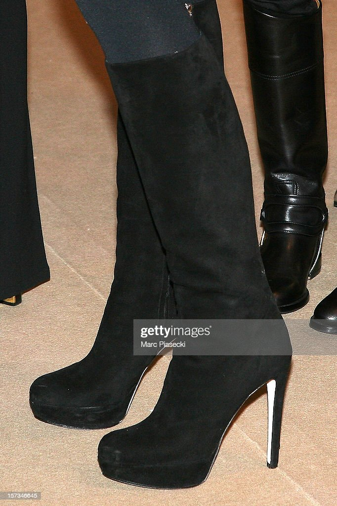 Jade Foret (boots detail) attends the 'Gucci Paris Masters 2012' at Paris Nord Villepinte on December 2, 2012 in Paris, France.