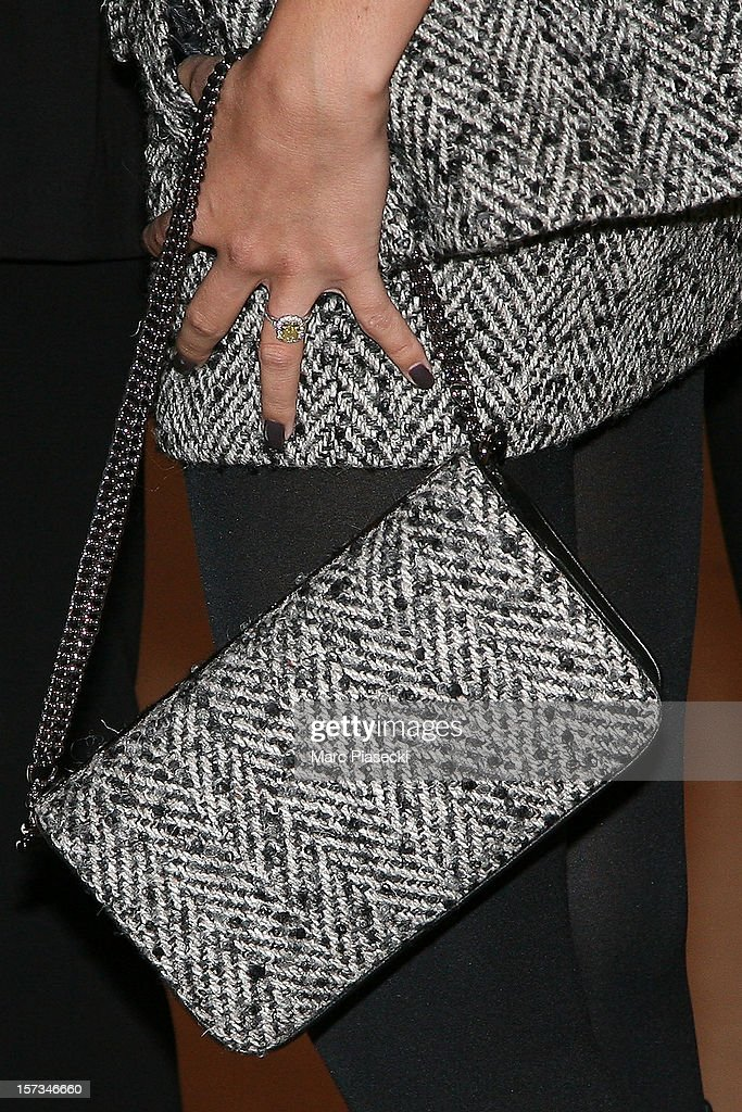 Jade Foret (handbag detail) attends the 'Gucci Paris Masters 2012' at Paris Nord Villepinte on December 2, 2012 in Paris, France.