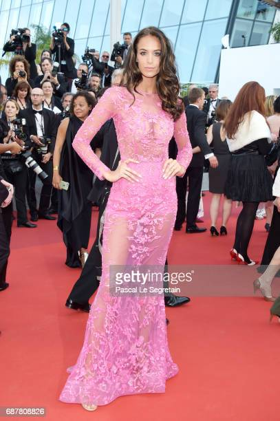 Jade Foret attends the 'The Beguiled' screening during the 70th annual Cannes Film Festival at Palais des Festivals on May 24 2017 in Cannes France