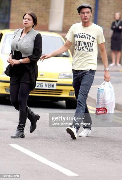 Jade Goody and boyfriend Jack Tweedy arrive at St Albans Crown Court in St Albans Hertfordshire