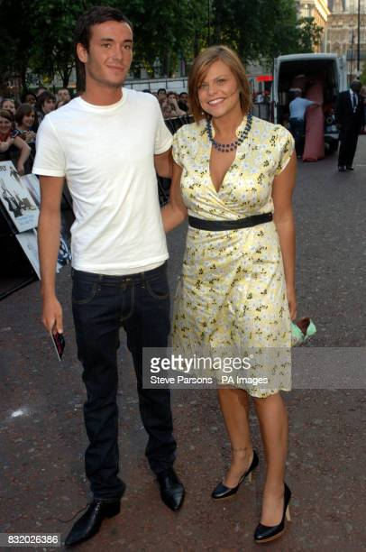 Jade Goody and Jack Tweedy arrive at the UK Premiere of Just My Luck at the Vue West End central London