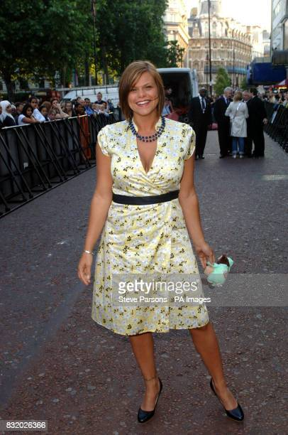 Jade Goody arrives at the UK Premiere of Just My Luck at the Vue West End central London