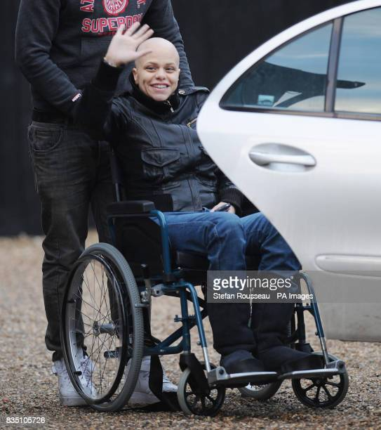Jade Goody leaves her Essex home this afternoon