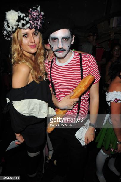 Jade Harwood and Thibault Caizergues attend HALLOWEEN YEAR ZERO hosted by Carlos Quirarte Matt Kliegman and Taavo Somer with Hornitos Tequila at...