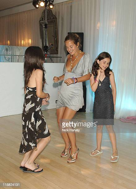 Jade Jagger and Daughters Amba and Assisi during An Evening at The Sanderson Inside at Sanderson Hotel in London Great Britain
