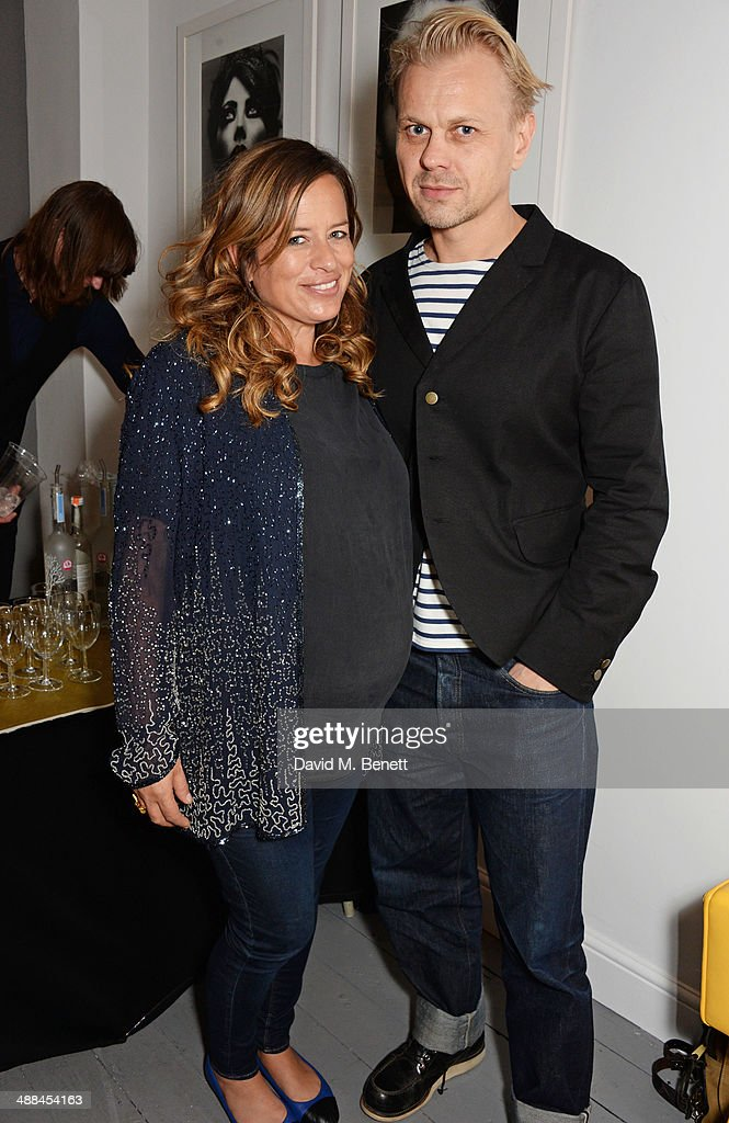 Jade Jagger and husband Adrian Fillary attend the launch of the new 'Jade Jagger' New Bond Street showroom on May 6 2014 in London England