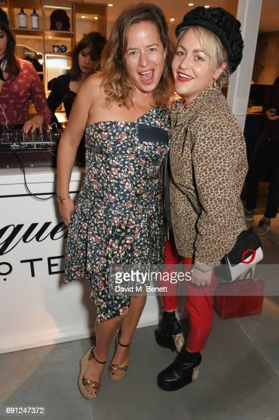 Jade Jagger and Jaime Winstone attend the Perfect Ten Exhibition in association with Tanqueray No TEN at Harvey Nichols on June 1 2017 in London...