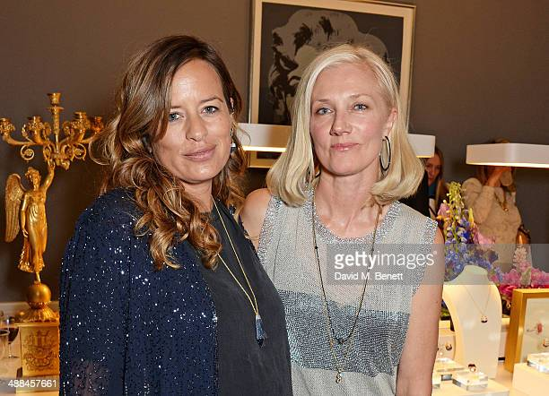 Jade Jagger and Joely RIchardson attend the launch of the new 'Jade Jagger' New Bond Street showroom on May 6 2014 in London England